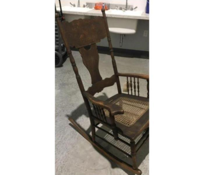 Smoke damaged rocking chair