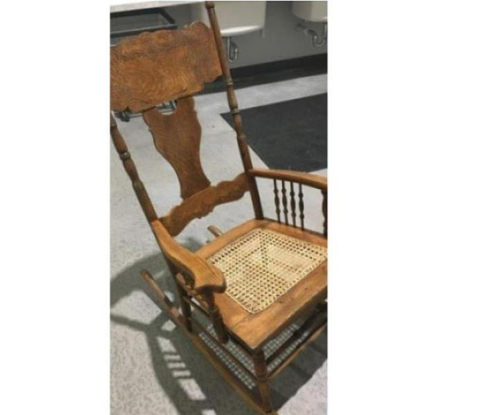 SERVPRO restored rocking chair