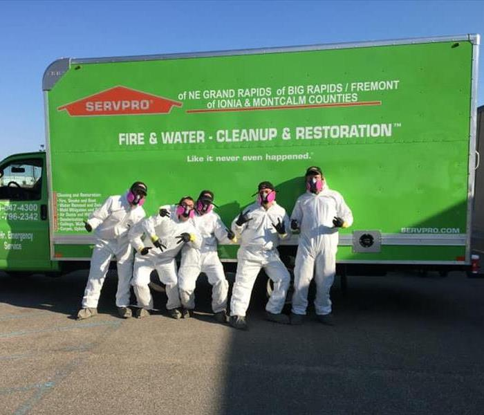 SERVPRO employees in full PPE