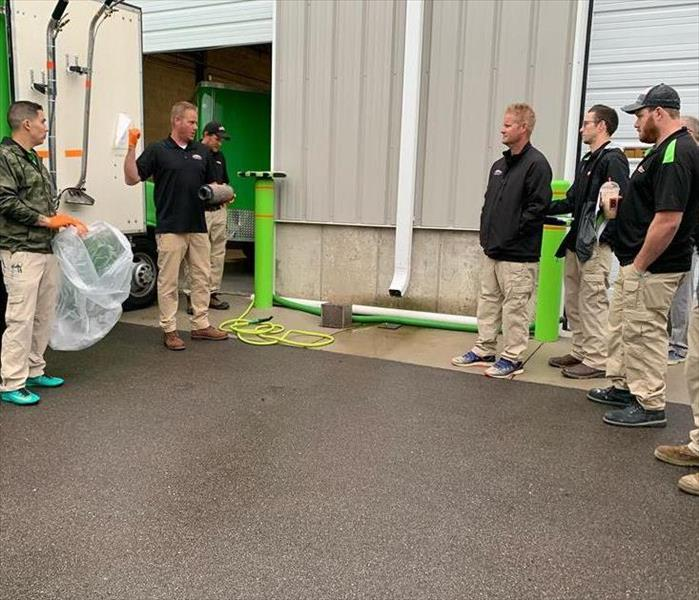 Training demonstration for SERVPRO employees