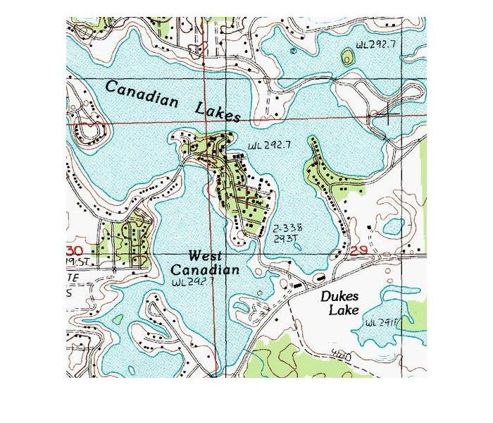 map of Canadian lakes in Michigan